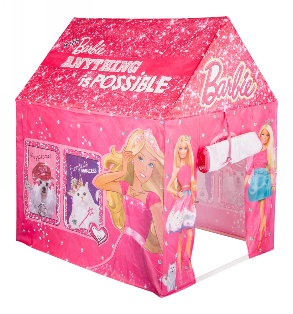 charming Barbie Tents Part - 2: Barbie My Pinktastic Tent House