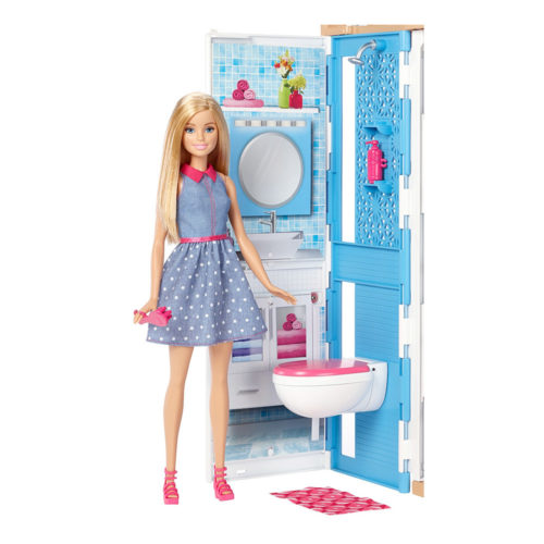 Barbie 2-Story House & Doll (13 Pcs)