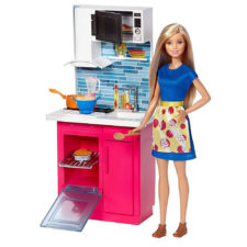 Barbie Doll Kitchen Playset DVX54