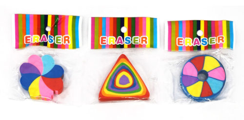 Assorted Colorful Erasers