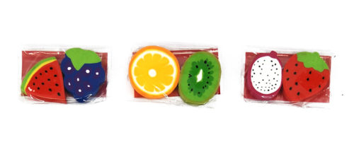 Assorted Fruit Erasers (Pack of 2)
