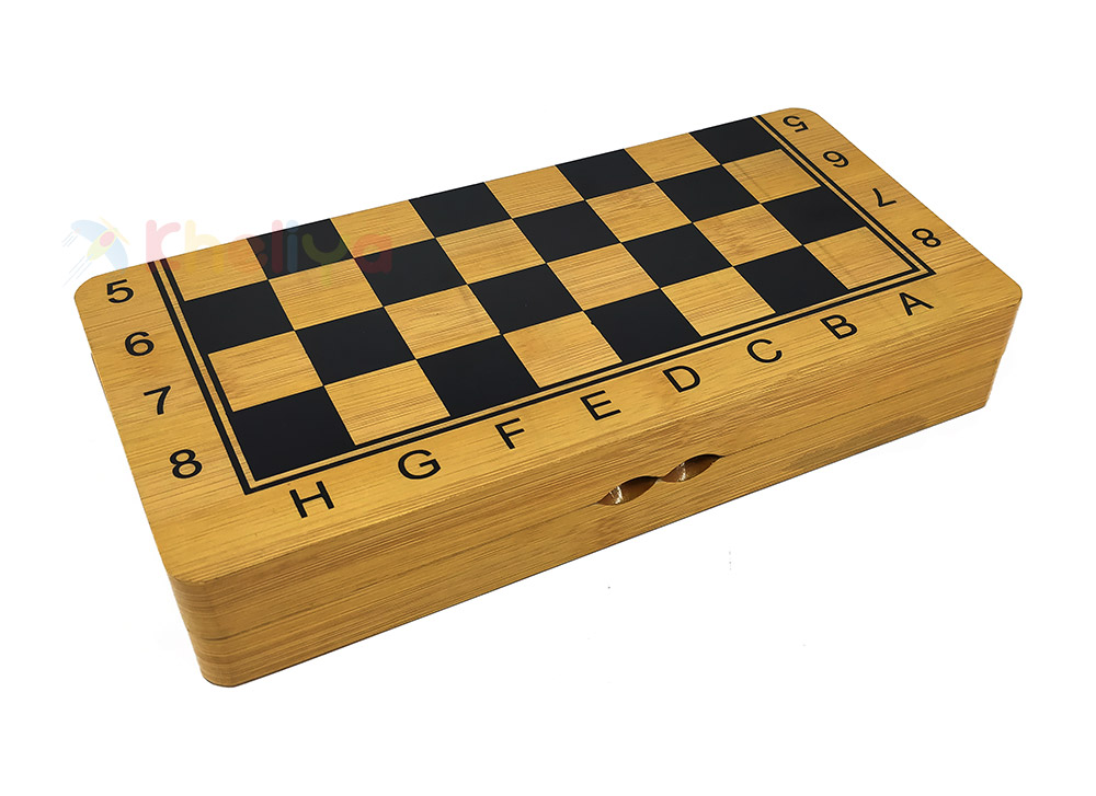 Buy 3 In 1 Games Premium Wooden Chess Checkers