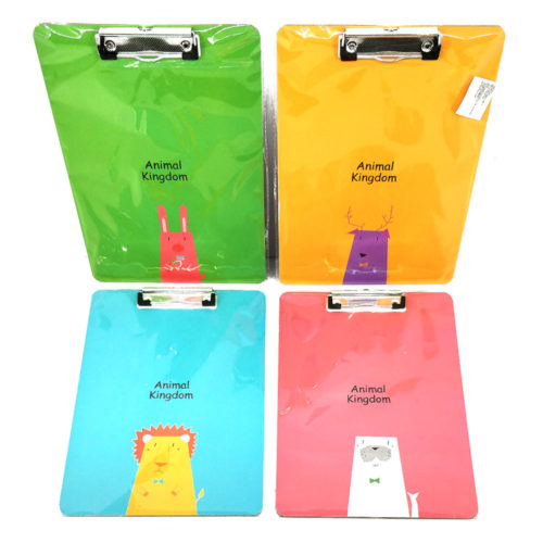 Writing Pad / Clipboard with Animal Prints (Assorted Colors)