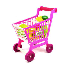 Shopping Cart With Cutting Fruits Set