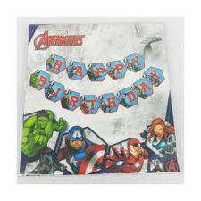 Avengers Happy Birthday Party Bunting Banner