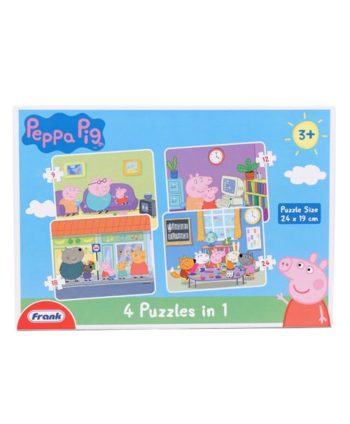 Peppa Pig 4-in-1 Puzzles