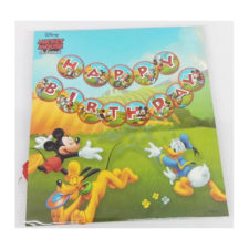 Mickey Happy Birthday Party Bunting Banner