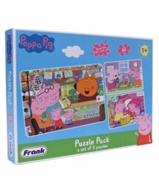 3-in-1 Peppa Pig Puzzle Pack 60 Pcs.