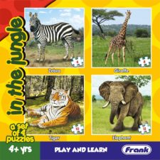 Animal In The Jungles - Set of 4 Puzzles