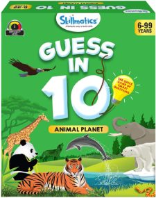 Skillmatics Smart Questions Game - Animal Planet (Guess In 10)