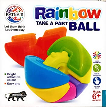 Rainbow Take A Part Ball