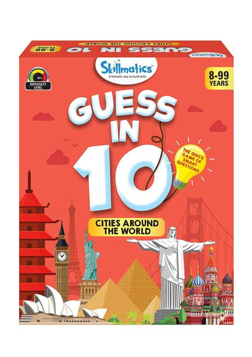 Skillmatics Smart Questions Game - Cities Around The World (Guess In 10)