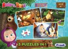 Masha and The  Bear 3-in-1 Puzzle 26 Pcs.