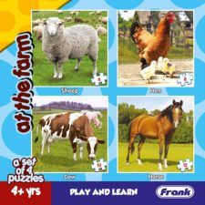 Animals at The Farm - Set of 4 Puzzles
