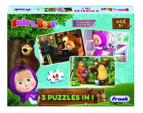 Masha and The  Bear 3-in-1 Puzzle 48 Pcs.