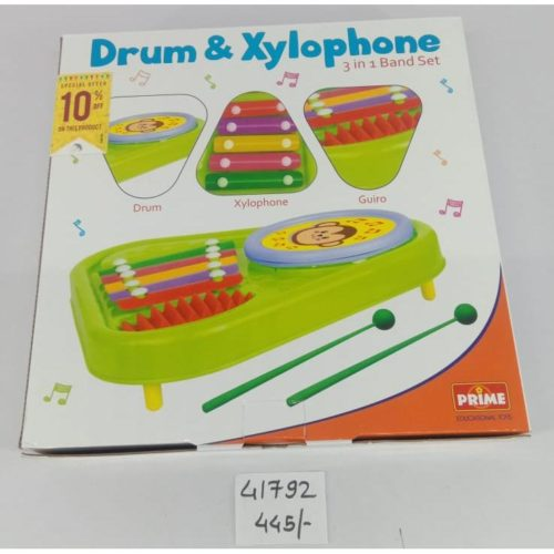 Drum & Xylophone 3-In-1 Band Set