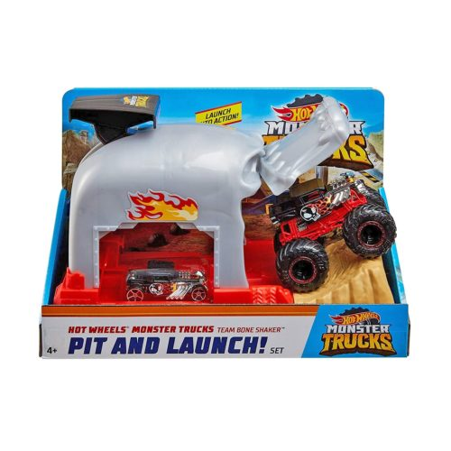 Hot Wheels Monster Trucks Bone Shaker Launcher Playset