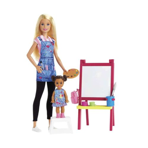 Barbie Art Teacher Playset with Blonde Doll