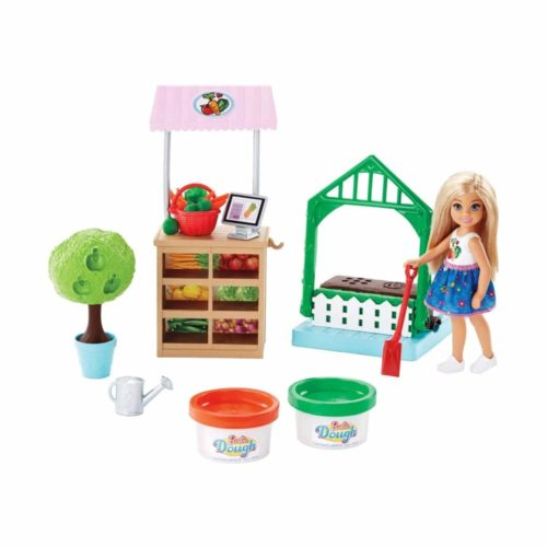 Barbie Garden Playset with Chelsea Doll Food Molds & 2 Dough Colors