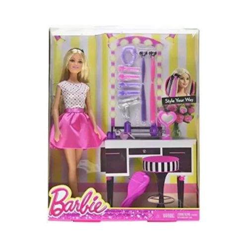 Barbie Style Your Way Fashion Doll with Hair Accessories