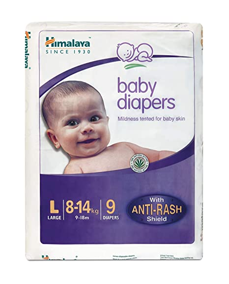 Himalaya Baby Diapers L (Pack of 9)
